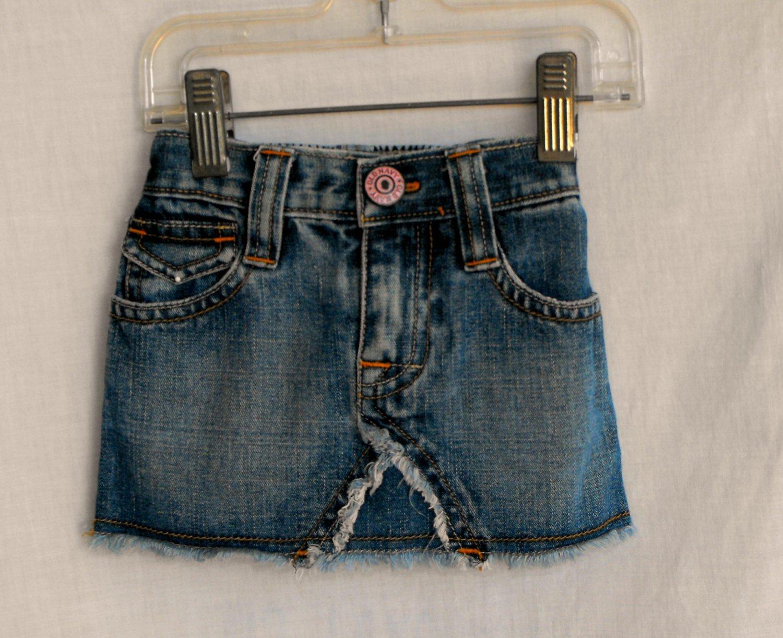 Old Navy Baby Girl 6-12 Months Jean Mini-Skirt