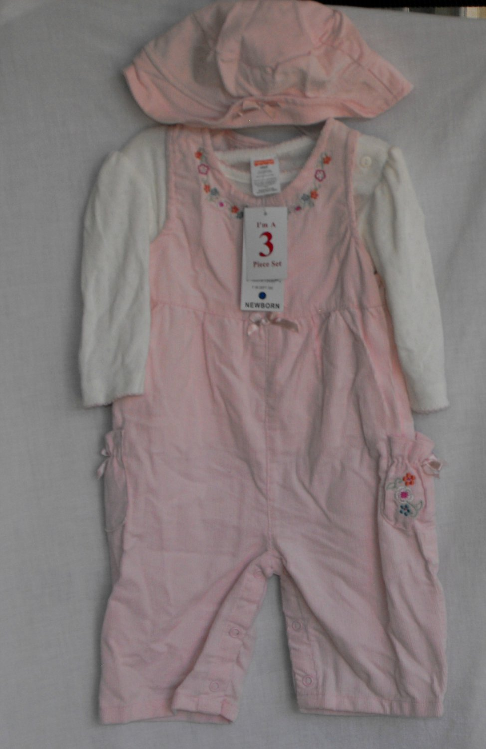 Fisher Price Baby Girl 6-9 Months 3 pc. Outfit with Hat