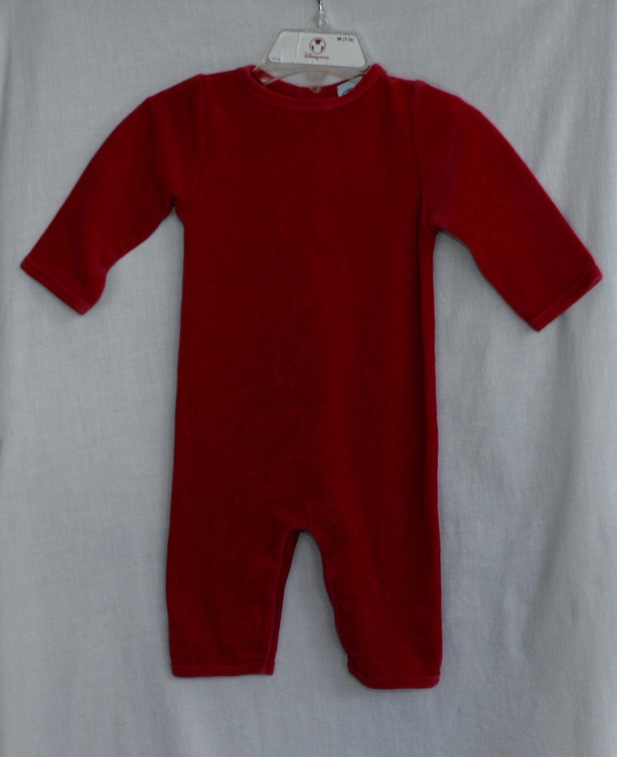Old Navy Baby Red Velour Romper 3-6 Months