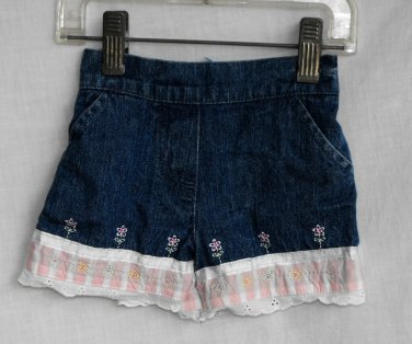 Mini-Wear Baby Girl 3 6 month denim jeans shorts