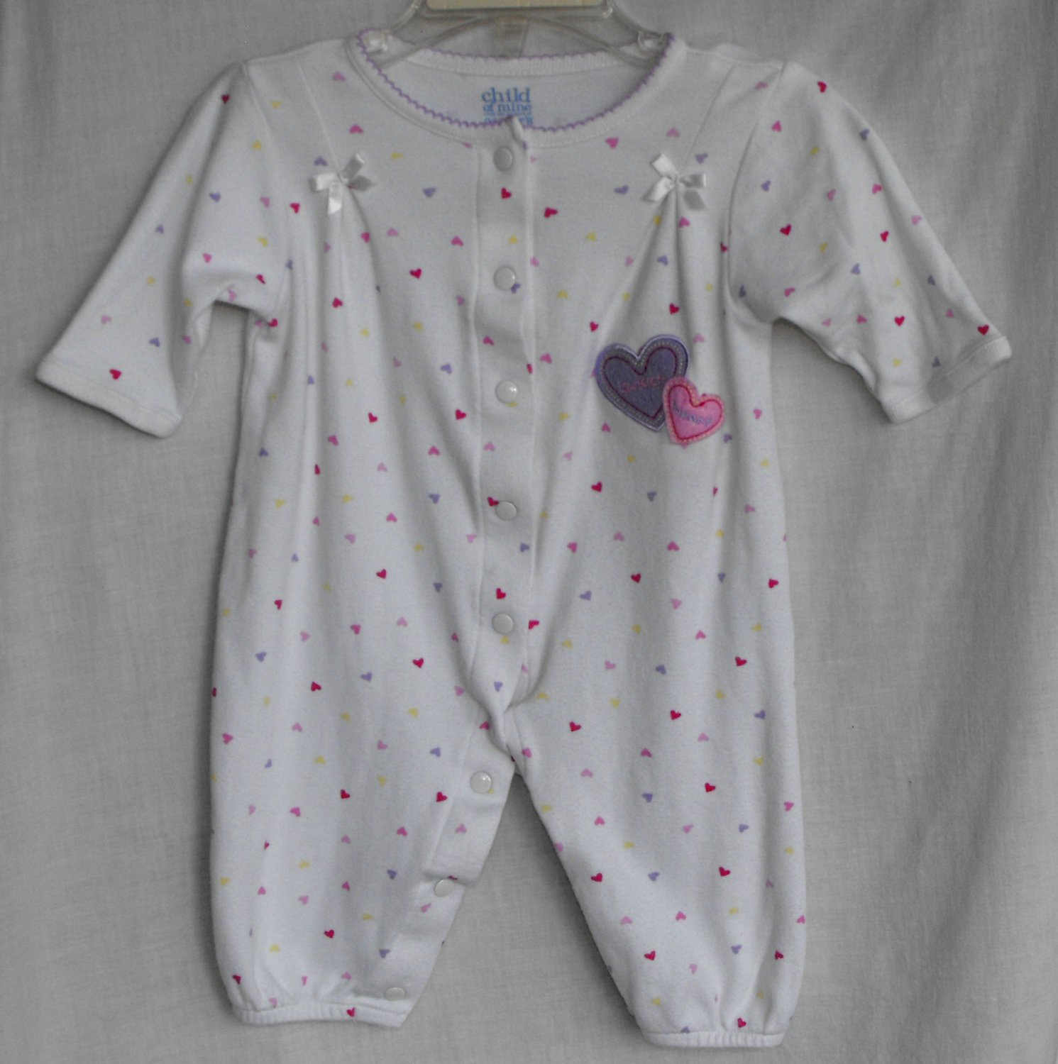 Carter's Child of Mine Romper Sweet Heart Baby Girl 0-6 Months