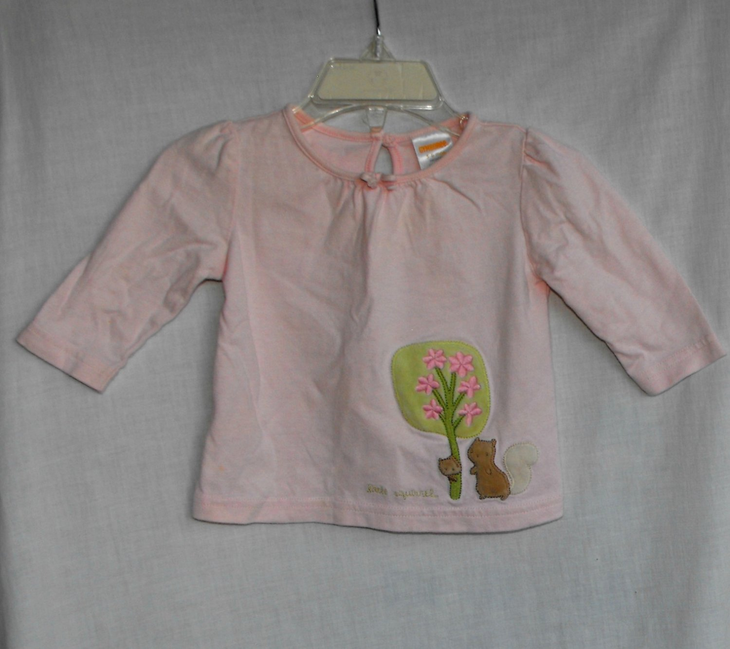 Gymboree Baby Girl 3 6 Month Long Sleeve Squirrel Top