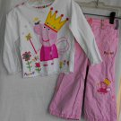 Peppa Pig 2-Piece Shirt Pants Girls 12 18 months