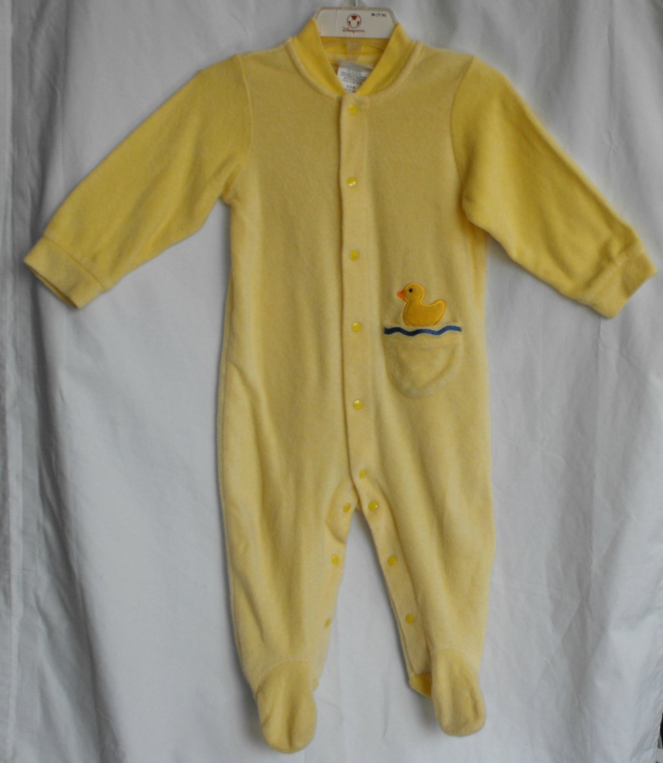 Carter's Duckie Gender Neutral Terry Sleeper 9-12 Months
