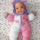 "Goldberger Fuzzy Fleece Baby Doll ""Peek-a-Boo"" Collectible"