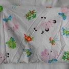Fisher Price Rainforest Girls Crib Sheet  Pink and White