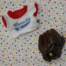 Build a Bear Workshop Clothes Dress Me Denim Baseball Jersey and Glove