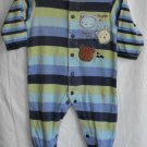 Carter's Classics Baby 6-9 Month Striped Bear Sleeper