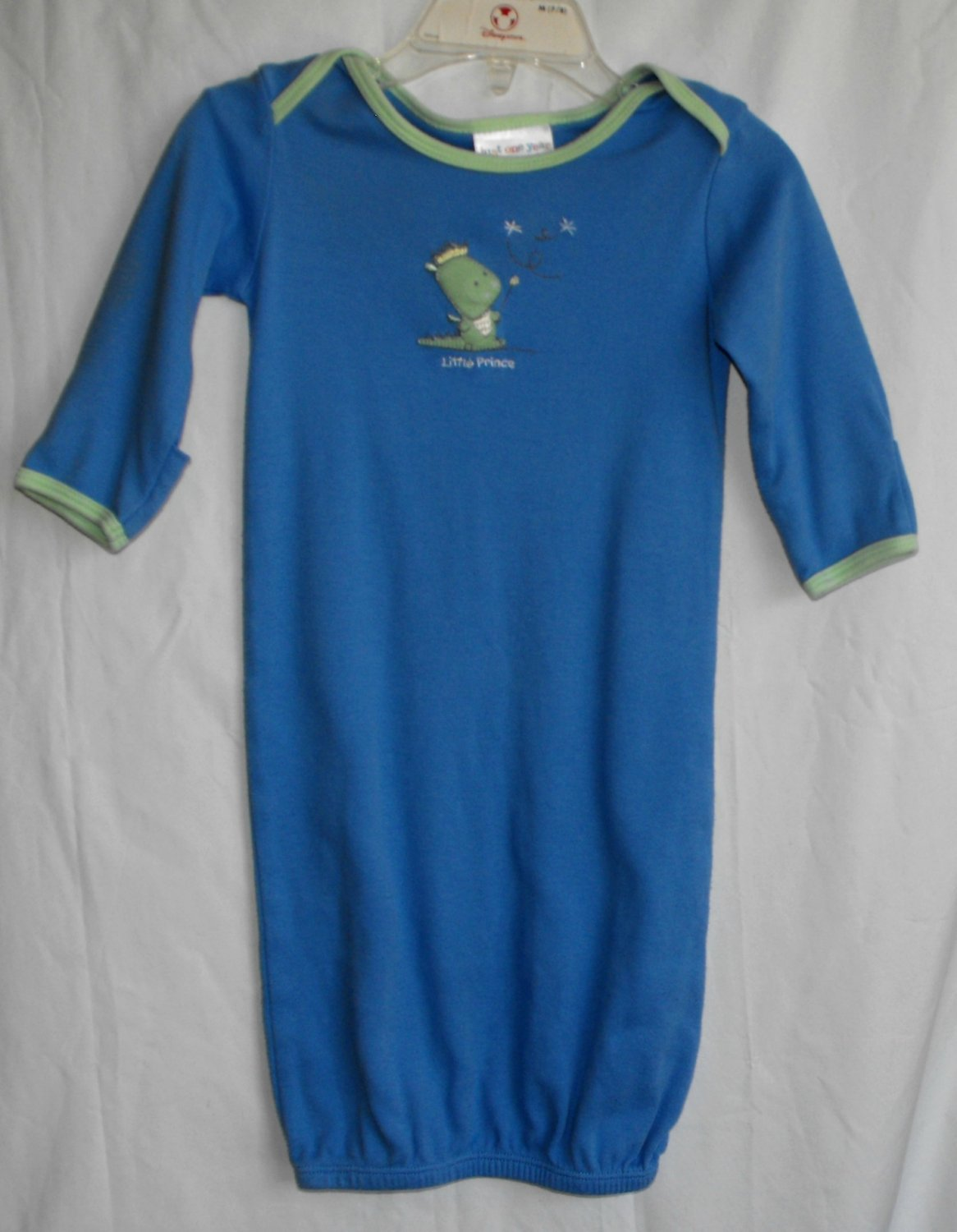 Carter's Just One Year Baby Boy Little Prince Dragon Infant Gown 0-3 months