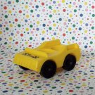 Vintage Fisher Price Little People Taxi  Yellow Car
