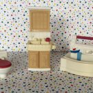 "Fisher Price Loving Family Dollhouse ""Bathtime Fun"" Bathroom Lot"