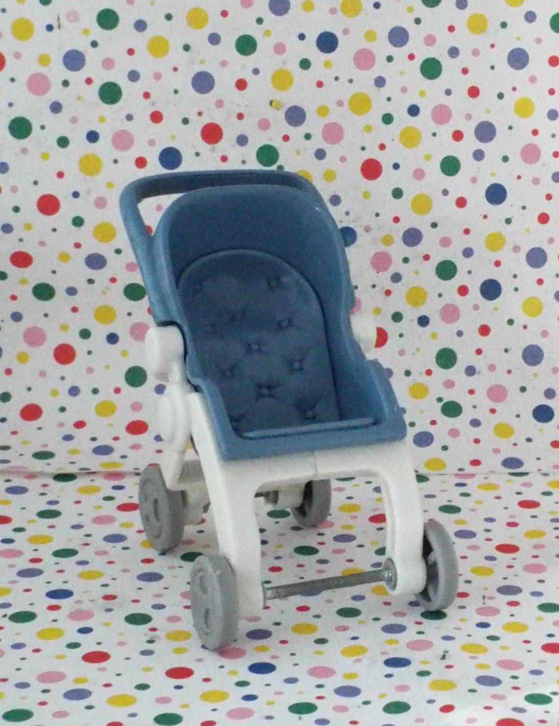 Fisher Price Loving Family Baby Blue Folding Stroller