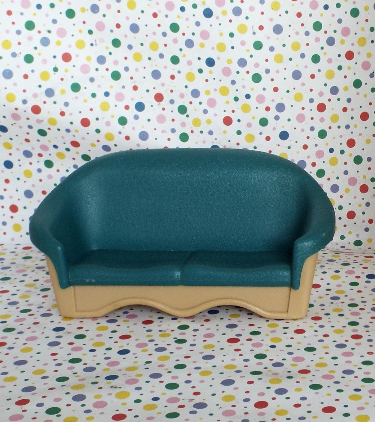 Fisher Price Grand Doll House Green Living Room Couch