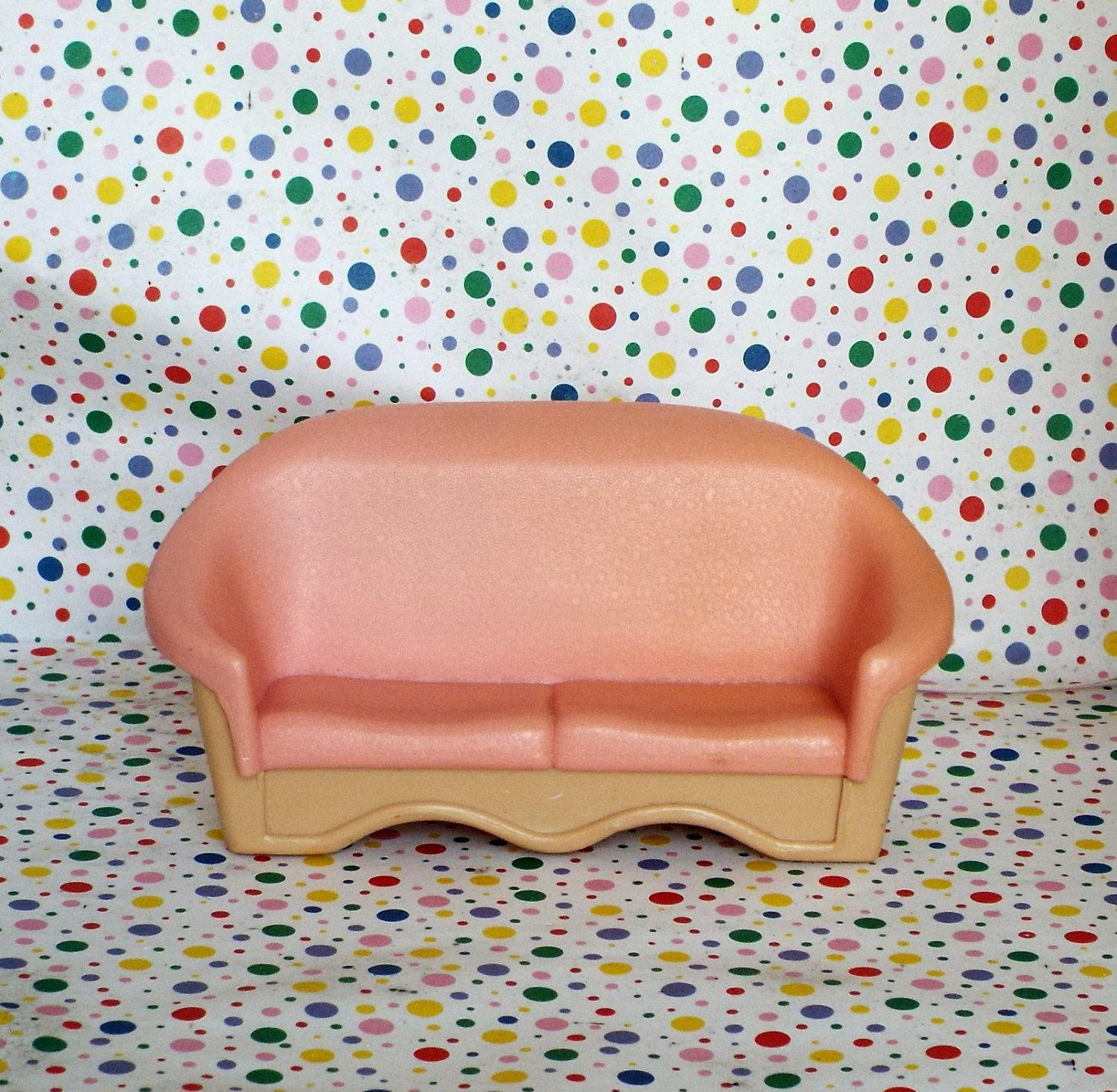 Fisher Price Grand Doll House Peach Living Room Couch