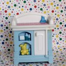 Fisher Price Loving Family Dollhouse Blue Baby Changing Table