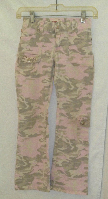 Girls Size 8 Bongo Pink Camo Pants