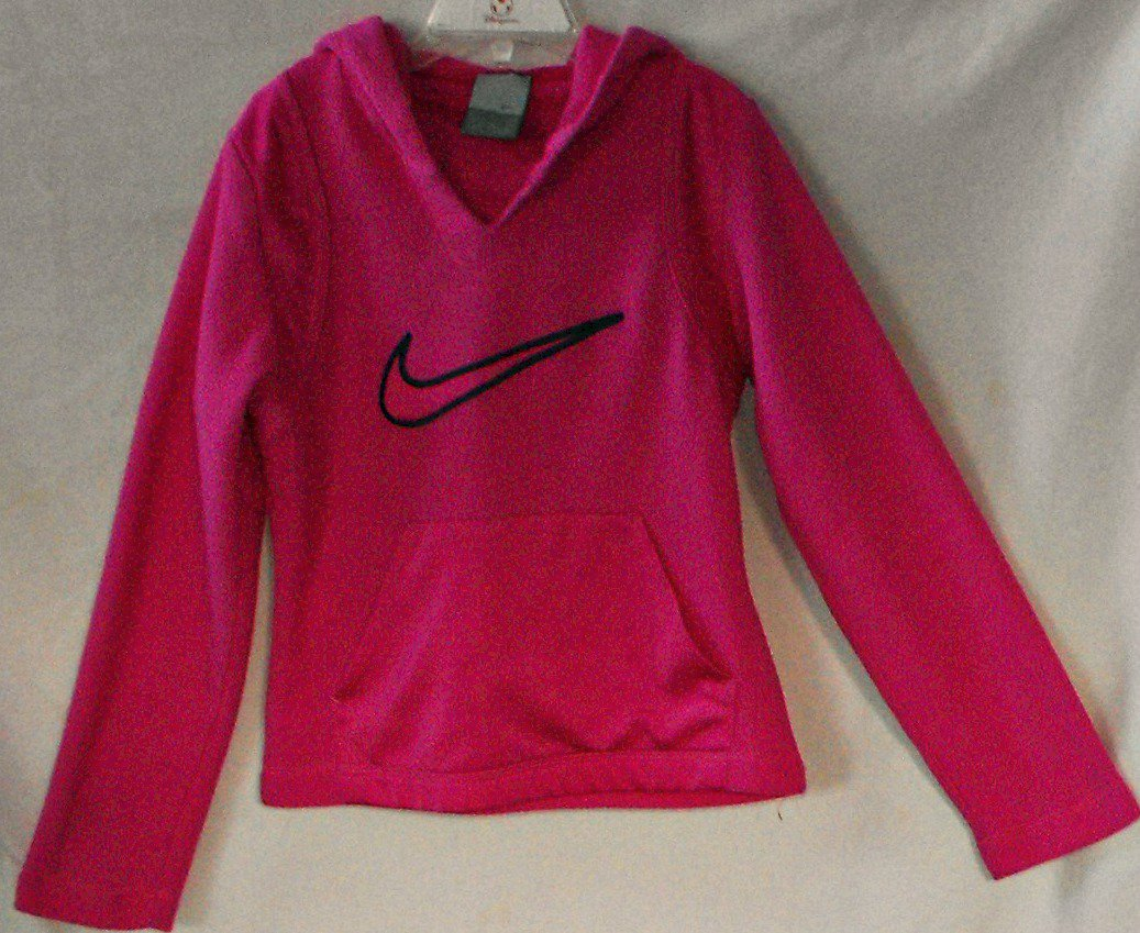 Nike PINK Girls Pullover Jacket Coat Size S 7-8