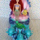 Disney Little Mermaid Shimmering Lights Dolphin Chariot with Shimmering Lights Ariel Doll