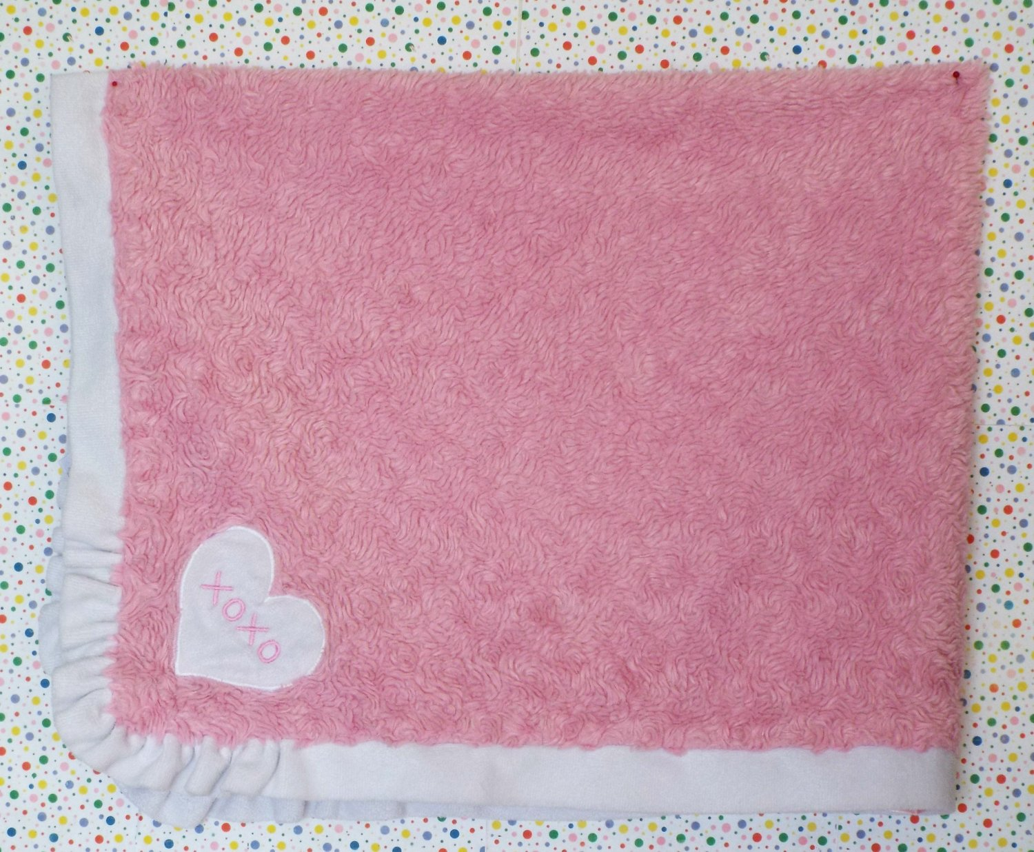"""Baby Starters Pink """"XOXO"""" Security Blanket Lovey"""