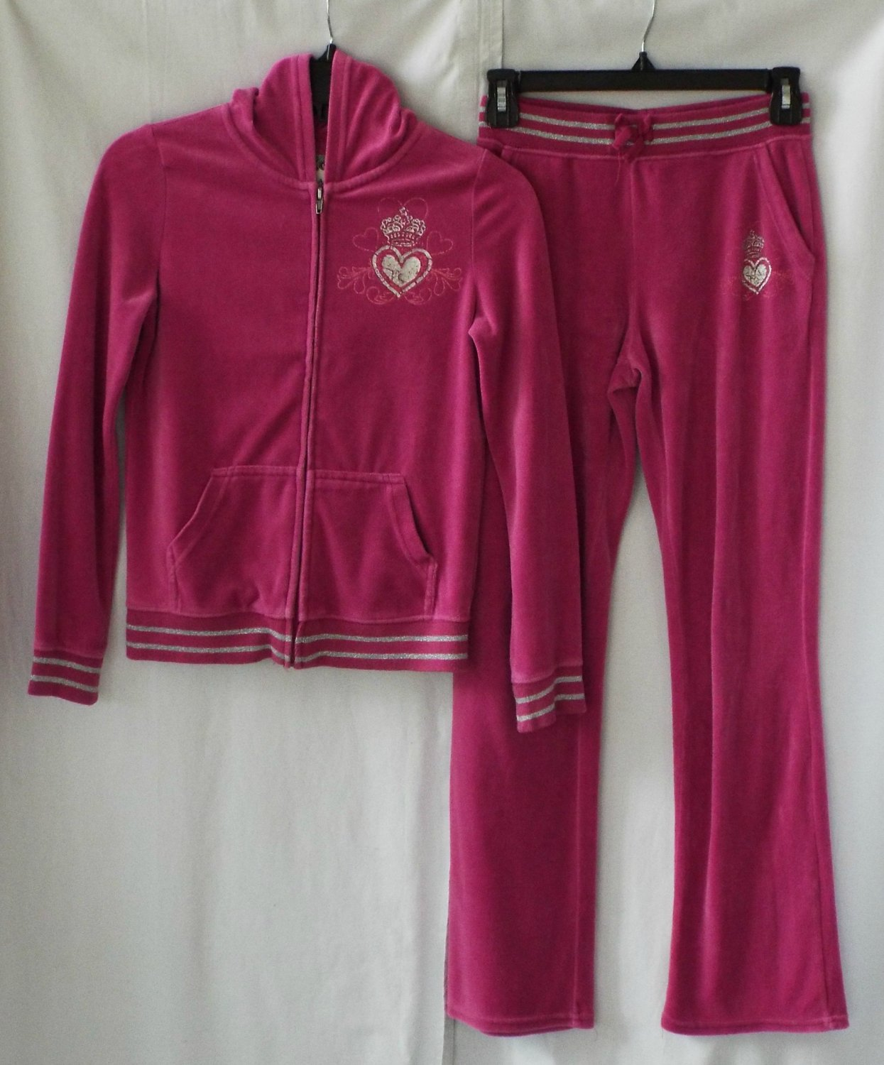 Girls Size 10/12 Pink Jogging Suit Children's Place