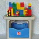 Step 2 Build & Store Block Table Duplo Mega Bloks Lego