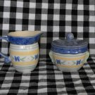Pfaltzgraff Summer Breeze Sugar Bowl and Creamer  Lot