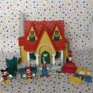 Vintage Disney Mickey Mouse Toontown House Playset