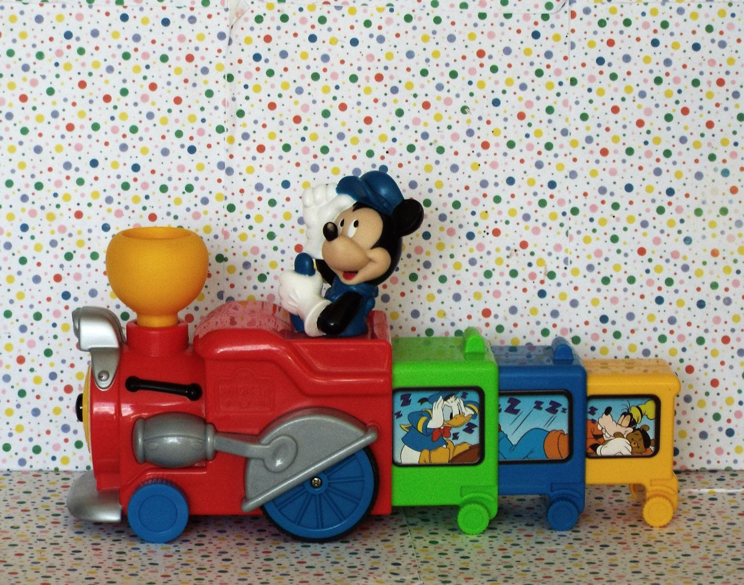 *11/16*SOLD~Disney Mickey Mouse Press n' Go Musical Train