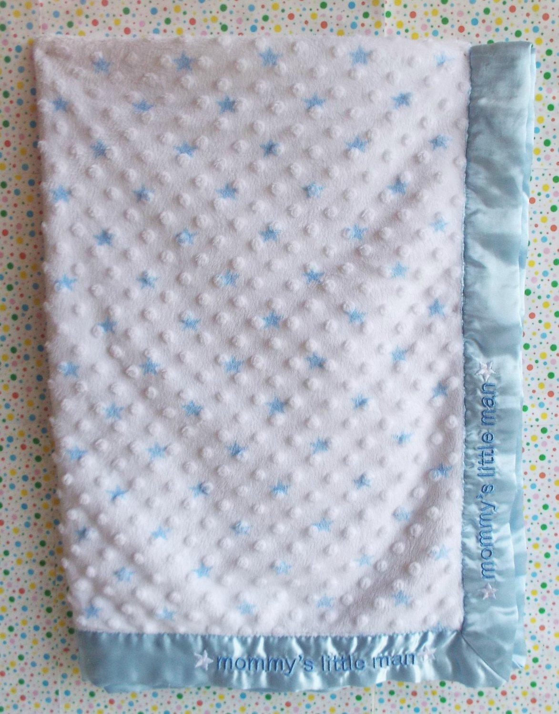 *11/14*SOLD~Carter's Mommy's Little Man Minky Dot Blanket