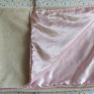 Wamsutta Baby Pink Satin Cream Security Blanket Lovey