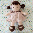 Carter's My First Doll Pink Brown Polka Dot Rattle Lovey