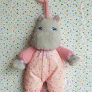 Garanimals Pink Hippo Pull String Musical Plush Crib Toy