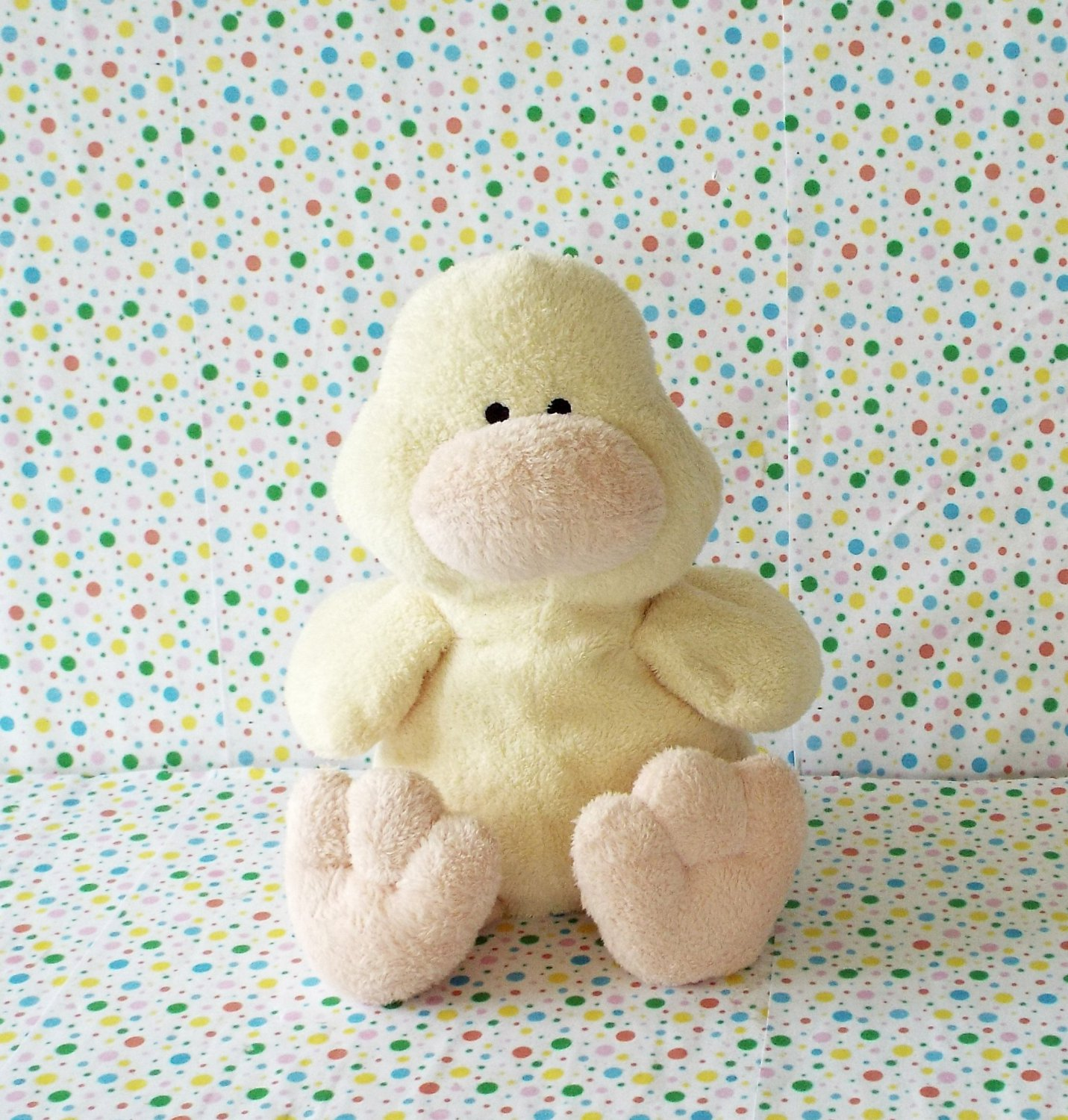 *8/14*SOLD~Ty Beanie Pluffies Puddles Duck Tylux Baby Toy Plush Lovey