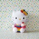 Hello Kitty Rainbow Cupcake Ty Beanie Baby