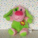 Dan Dee Collector's Choice Bright Green Pink Dog Lovey