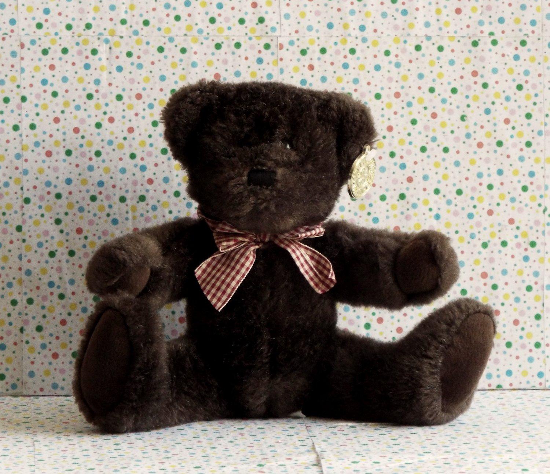 Dan Dee Collector's Choice Brown Teddy Bear Plaid Bow Lovey