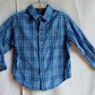 Boys Claiborne 3T Blue Plaid Longsleeve Button Up Shirt