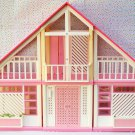 Barbie Dream House Dollhouse Pink and White A-Frame