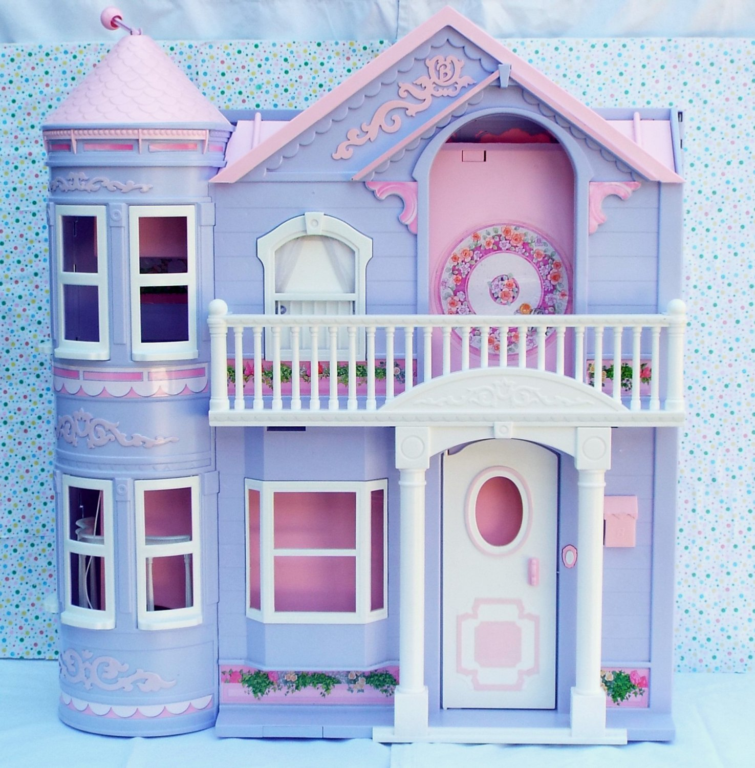 6 15 sold barbie dream house dollhouse 2000 purple for Dream home book tour