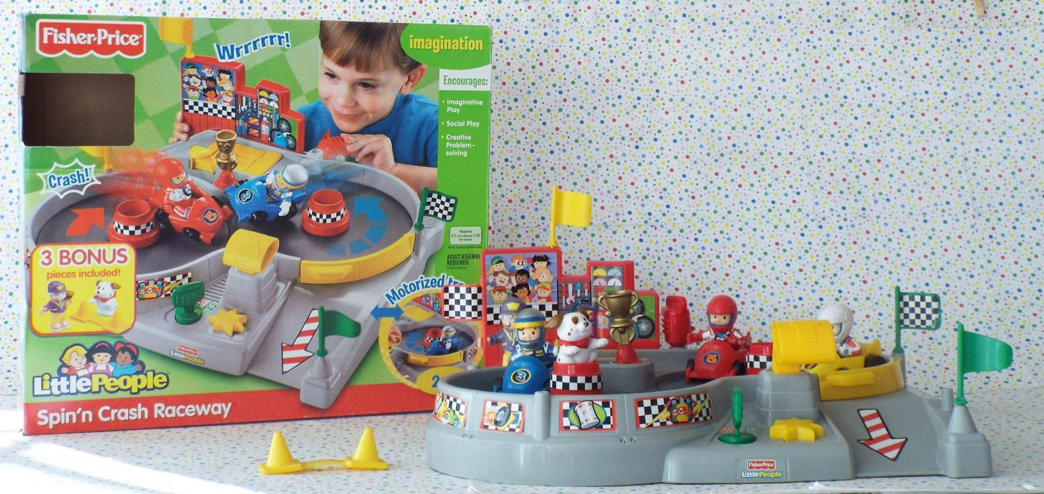 Fisher Price Little People Spin N' Crash Raceway