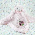 Tiddliwinks Bear Pink Security Blanket Ladybug Pink Satin Trim Bear Blanket