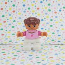 Lego Duplo Girl Minifigure Girl White Pants Pink Heart Shirt