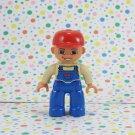 Lego Legoville Duplo Minifigures Blue Overalls Red Baseball Hat