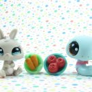 Littlest Pet Shop  #1258 Bunny #1259 Snake~ LPS Pet Pairs
