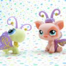 Littlest Pet Shop  #621 Butterfly #62 Pig~ LPS Funniest