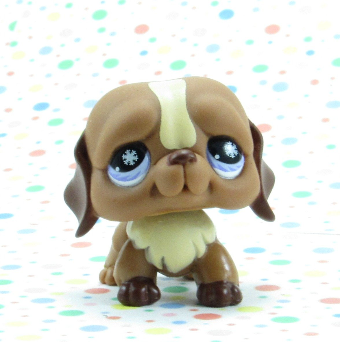 Littlest Pet Shop #688 Brown St Bernard Dog ~ LPS Frosty Fortress