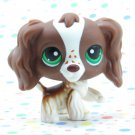 Littlest Pet Shop #156 Springer Cocker Spaniel Dog ~ LPS Carrying Case Pet