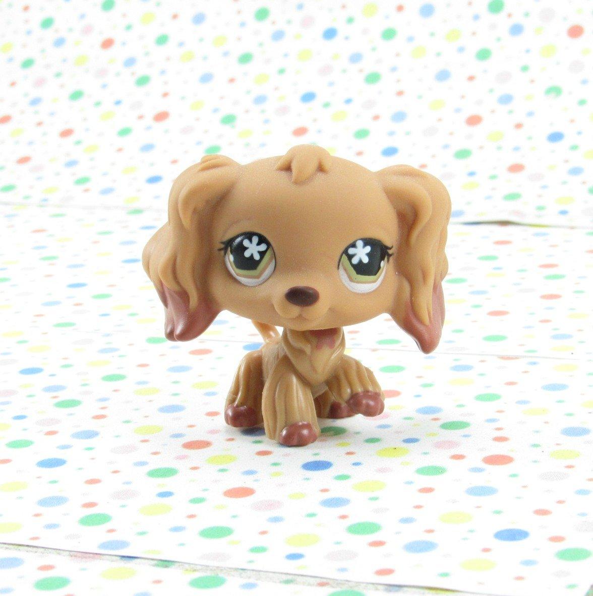 Littlest Pet Shop #716 Tan and Caramel Cocker Spaniel Dog ~ Target LPS Singles