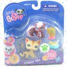 Littlest Pet Shop #1904 Purple Squirrel #1905 Cat ~ LPS Collector Pets