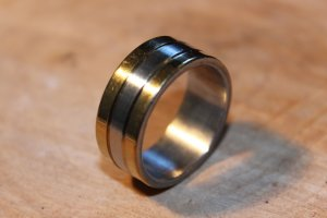 Mens Stainless Steel Ring Size 8.5